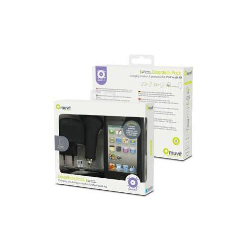 Coque + Film + Chargeurs Pour Ipod Touch 4G Nouvea