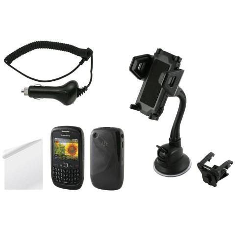 Pack Premium Blackberry 8520 Minigel Screen Cac Ca