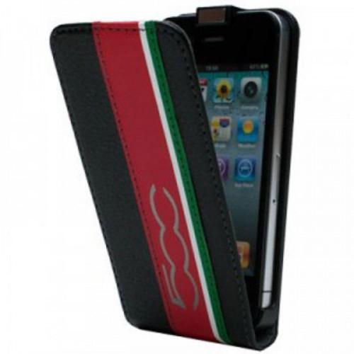 Fiat 500 Etui Clapet Slim Noir Apple Iphone 5 Nouv