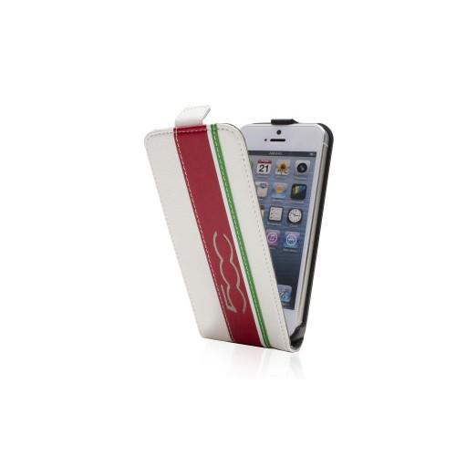 Fiat 500 Etui Clapet Slim Blanc Apple Iphone 5 Nou