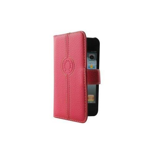 Housse folio FACONNABLE rose   pour Iphone 4 Nouve