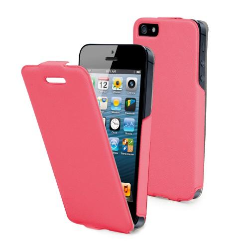 Muvit Etui Clapet Iflip Rose Apple Iphone 5 + Film