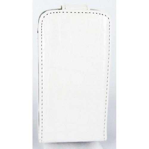 Celly Etui En Cuir Blanc Avec Ouverture Apple Ipho
