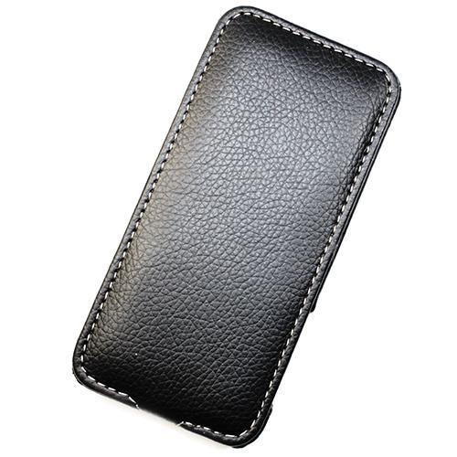 Housse cuir noir MELKCO version Luxe pour Apple IP