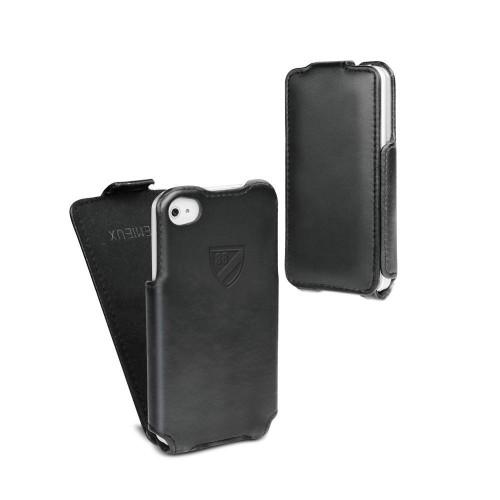 Housse / Etui CUIR Noir CREMIEUX pour Apple iPhone