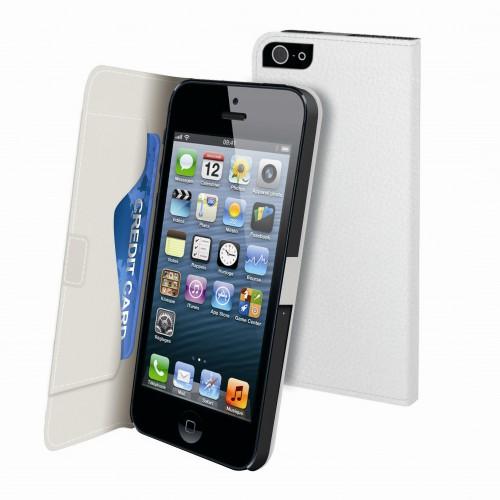 Muvit Etui Folio Slim Blanc Graine Iphone 5 Rangem