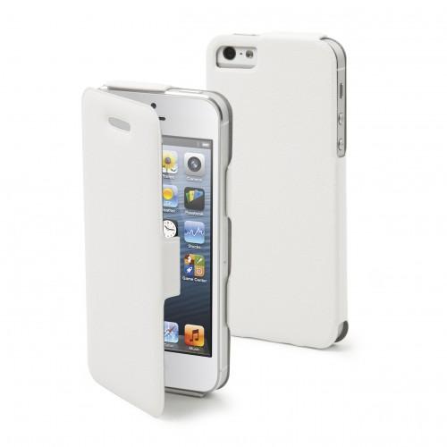 Muvit Etui Folio Iflip Blanche Apple Iphone 5 + Fi