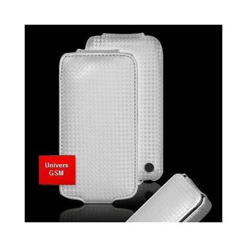 Housse/Etui gamme CARBONE ARGENT pour Apple iPhone