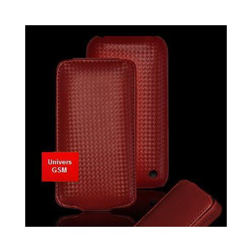 Housse/Etui gamme CARBONE ROUGE pour Apple iPhone