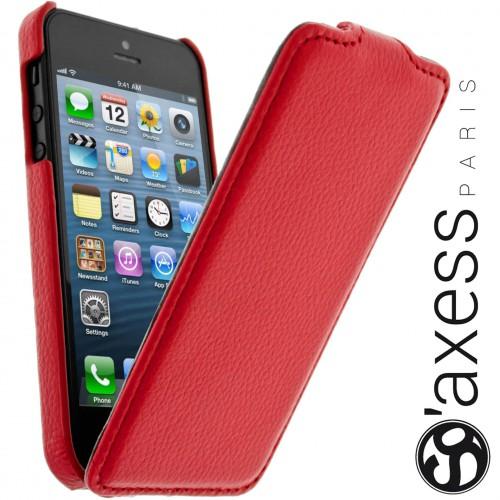 Housse à Rabat SO' Axess Rouge pour Apple IPhone 5