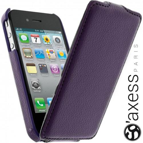 Housse à Rabat SO' Axess Violet pour Apple iPhone