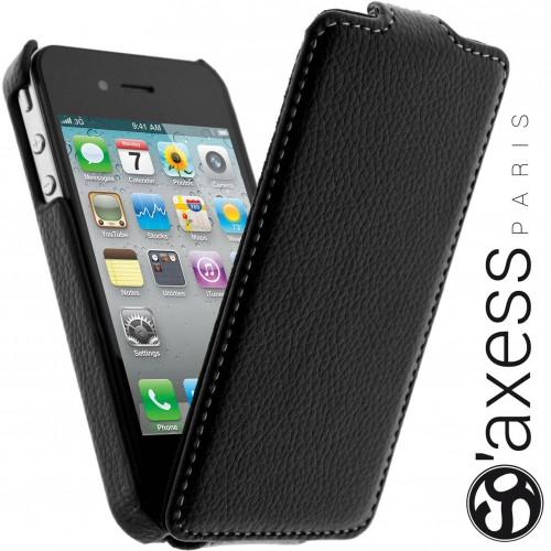 Housse à Rabat SO' Axess Noir pour Apple iPhone 4S