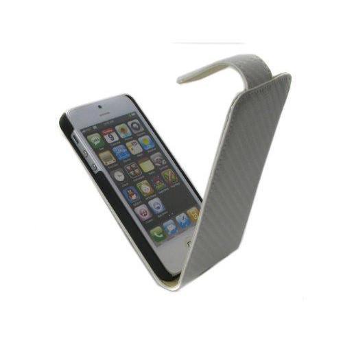 Housse à rabat finition carbone pour Apple Iphone