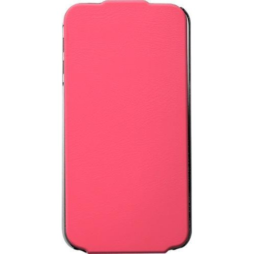 Etui coque vertical rose Made in France pour iPhon