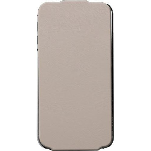 Etui coque vertical taupe Made in France pour iPho