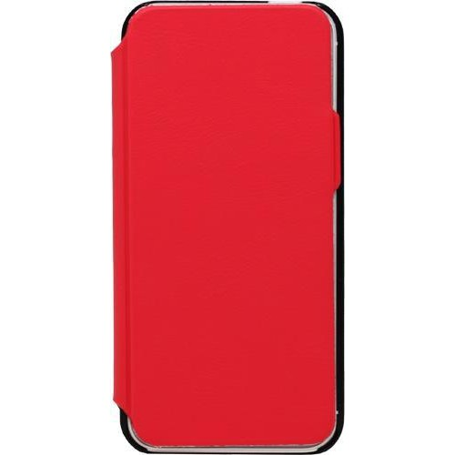 Etui coque folio made in France rouge pour iPhone