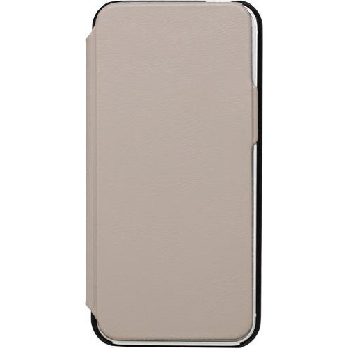 Etui coque folio made in France taupe pour iPhone