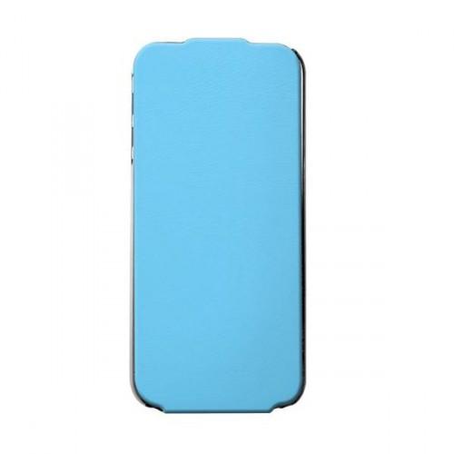 Etui coque vertical Made in France bleu pour iPhon