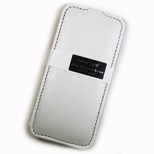 Housse cuir blanche MELKCO version Luxe pour Apple