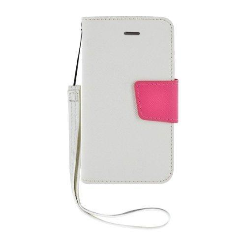 Etui à rabat blanc et rose pour iPhone 4/4S Nouvea