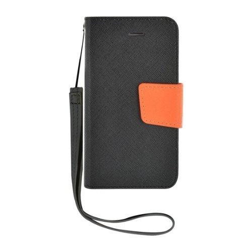 Etui à rabat noir et orange pour iPhone 4/4S Nouve
