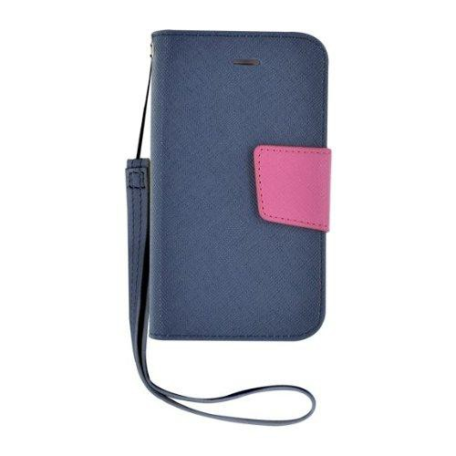 Etui à rabat bleu et rose pour iPhone 4/4S Nouveau