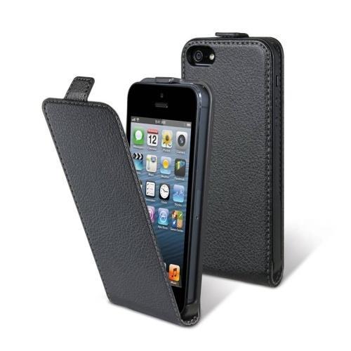 Housse à rabat pour Apple Iphone 5C noir Nouveau