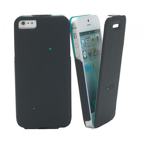 Etui à Clapet gamme TWITCH Noir/Vert pour Apple iP