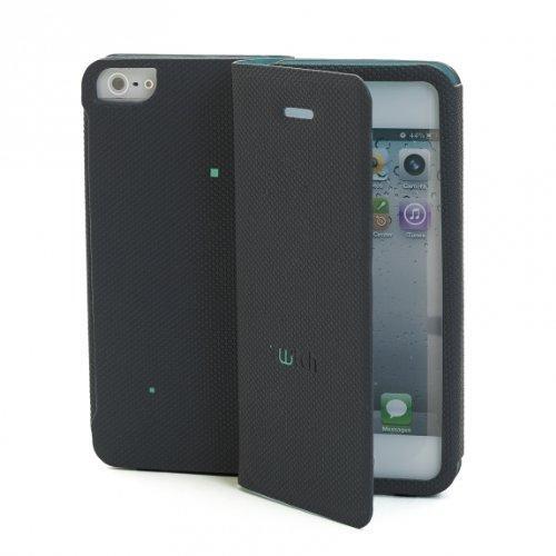 Etui Folio gamme TWITCH Noir/Vert pour Apple iPhon