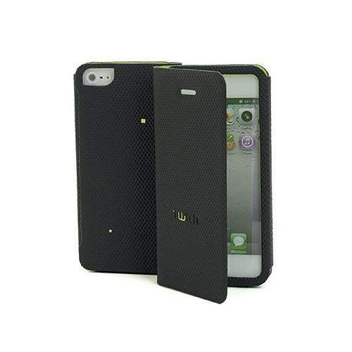 Etui Folio gamme TWITCH Marron/Vert pour Apple iPh