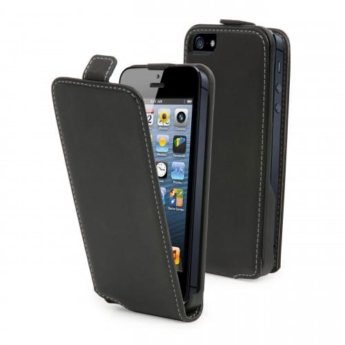 Housse / Etui à clapet Noir pour Apple iPhone 5c N