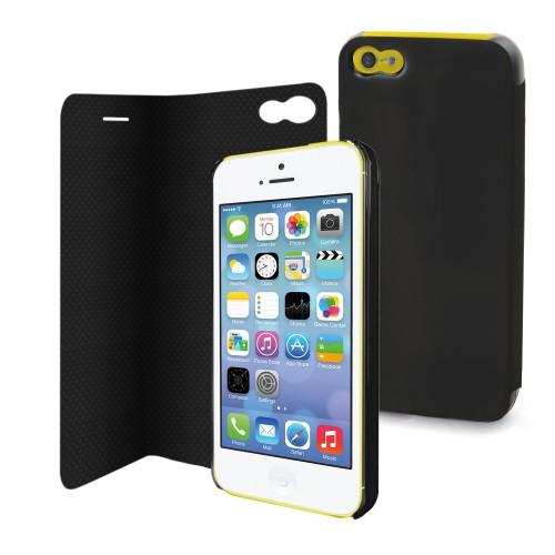 Etui magic folio noir pour apple iphone 5c Nouveau