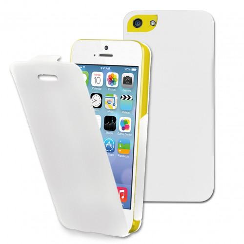 Muvit etui iflip blanc apple iphone 5c Nouveau