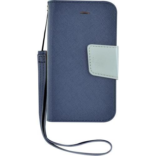 Etui à rabat bleu et blanc pour iPhone 4/4S Nouvea
