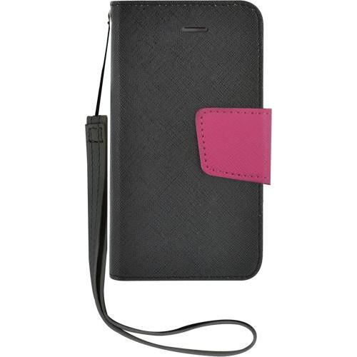 Etui à rabat noir et rose pour iPhone 4/4S Nouveau