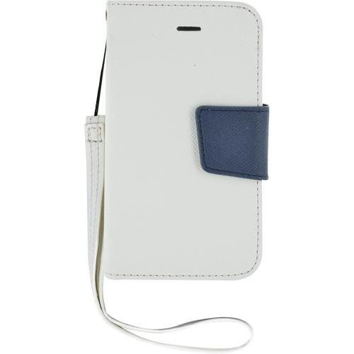 Etui à rabat blanc et bleu pour iPhone 4/4S Nouvea