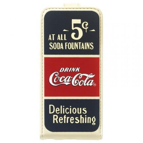 Etui à rabat Coca-Cola Old 5cents pour Apple iPhon