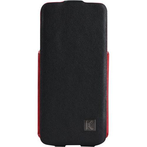 Etui à rabat Kenzo Chik en cuir noir pour iPhone 5