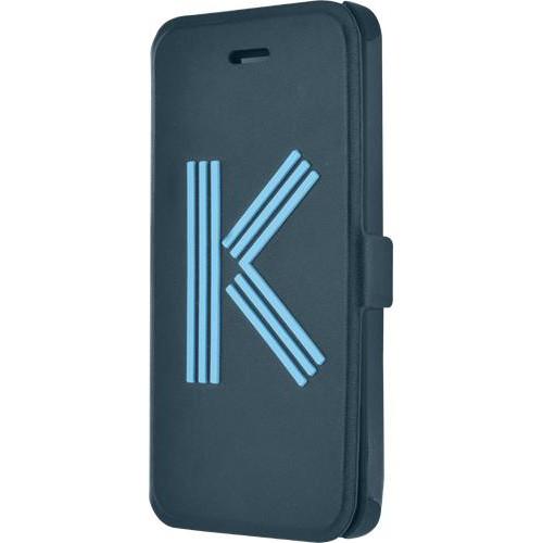 Etui folio Kenzo bleu Logo K pour iPhone 5/5S Nouv
