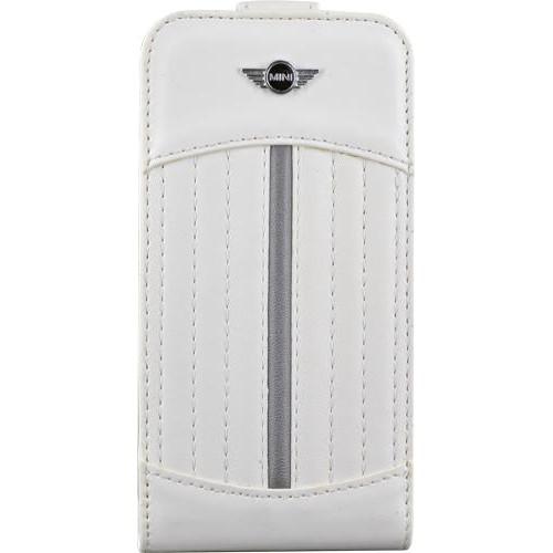 Etui à rabat blanc et gris Mini pour iPhone 4/4S p