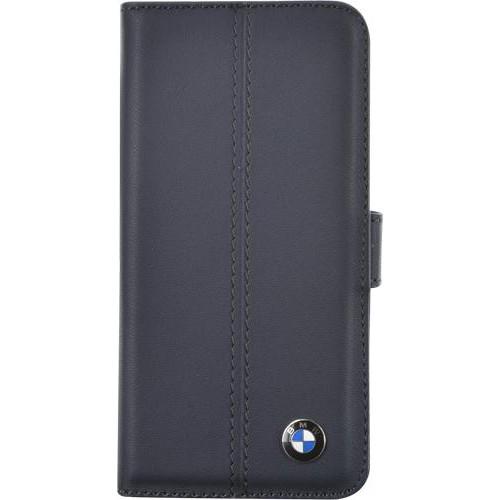 Etui à rabat BMW en cuir bleu pour iPhone 5/5S Nou