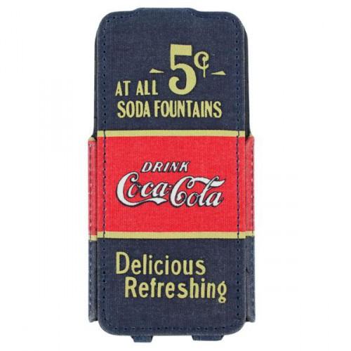 Housse à clapet Coca-Cola 5cents pour Apple IPhone