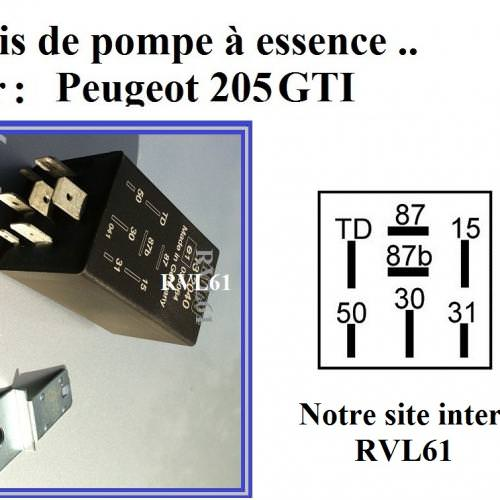Relais tachymétrique 12V PEUGEOT 205 309 GTI